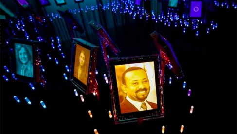 A picture of the 2019 Nobel Peace Prize Laureate, Ethiopian Prime Minister Abiy Ahmed